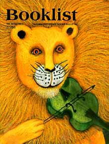 Cover of Booklist Magazine February 1998 featuring the artwork of Phoebe Stone