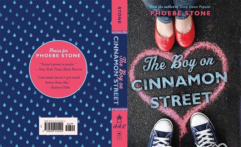 Front and Back covers of The Boy on Cinnamon Street